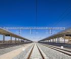中铁十四局五公司铺轨呼准鄂铁路准鄂段通过动态验收
