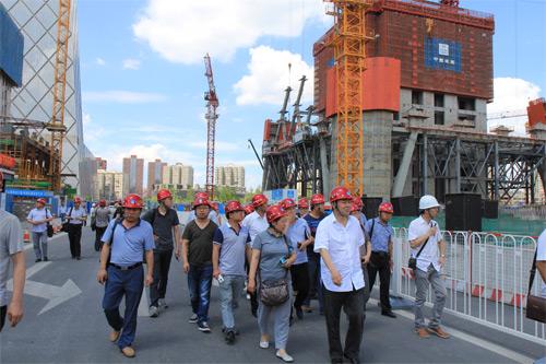 山西太行集团一行到中建三局(北京)中国尊项目现场考察观摩